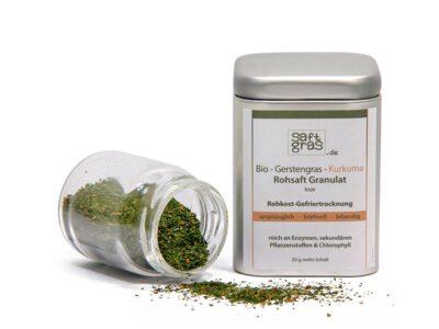 Gerstengras-Kurkuma-Granulat